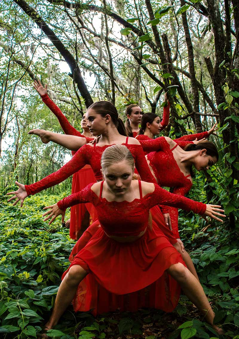 Dance in forest